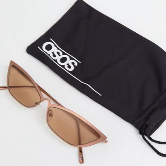 50e6bdc7a386b ASOS Accessories - ASOS DESIGN Small Metal Square Cat Fashion Glasses
